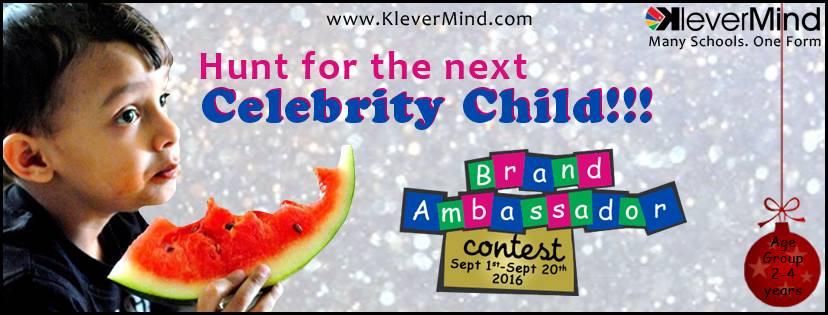KleverMind's Brand Ambassador Baby hunt for 2016